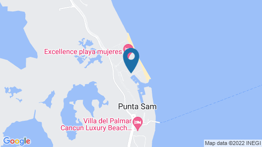 Beloved Playa Mujeres - Couples Only All Inclusive Map