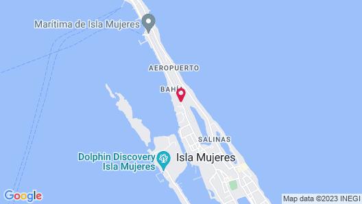Marina Paraiso Hotel Isla Mujeres Map