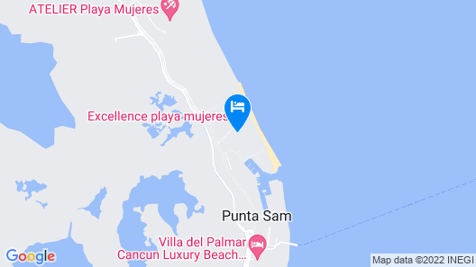 Excellence Playa Mujeres - All Inclusive - Adults Only Map