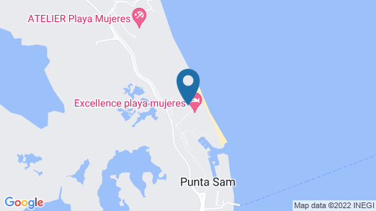 Finest Playa Mujeres by The Excellence Collection  All inclusive Map