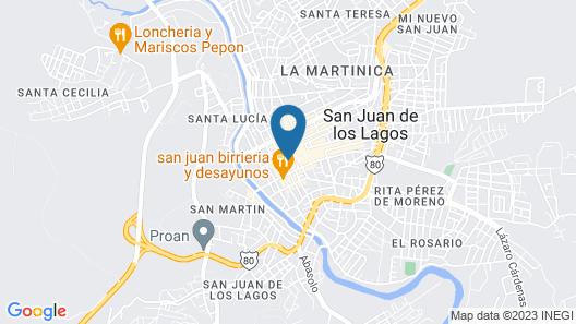 Hotel Posada Arcos Map