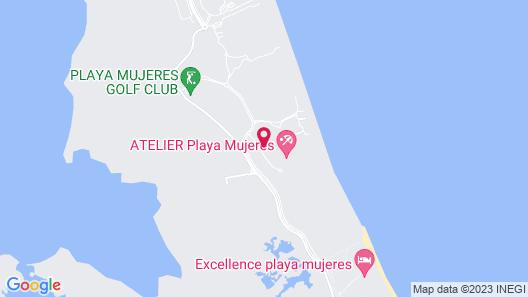 Estudio Playa Mujeres - Family Experience All Inclusive Resort Map