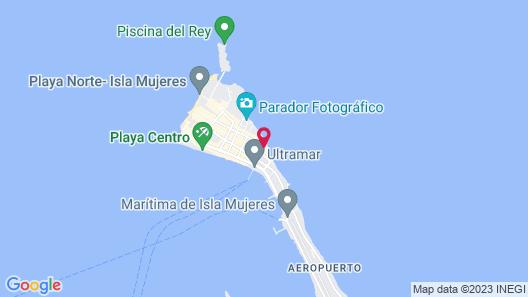 Rocamar Hotel Panoramico Isla Mujeres Map