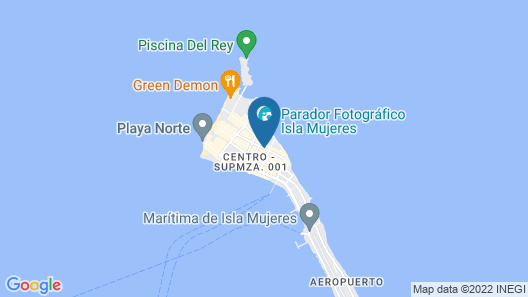 Hotel Xbulu-Ha Map