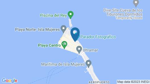 Ocean Drive Hotel - Isla Mujeres Map