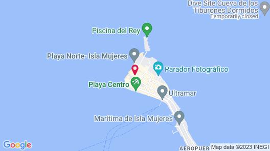 Ixchel Beach Hotel Map