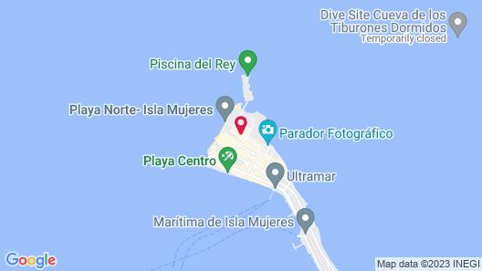 Cabanas Maria del Mar Map