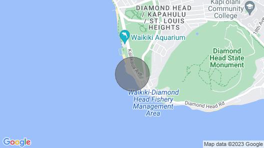 14th Floor Penthouse On Hawaii's Gold Coast At The Diamond Head Beach Hotel Map