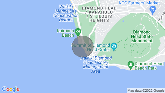 1 Bedroom 2 Queen Beds Oceanfront Suite in Honolulu Map