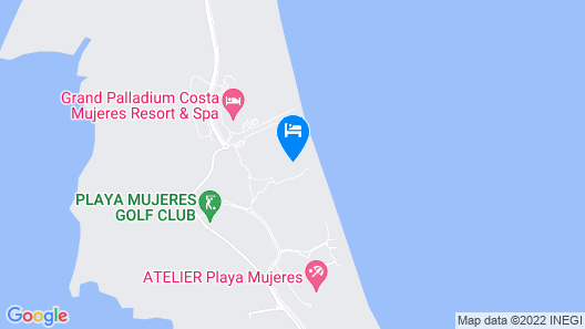 Dreams Playa Mujeres Golf & Spa Resort - All Inclusive Map