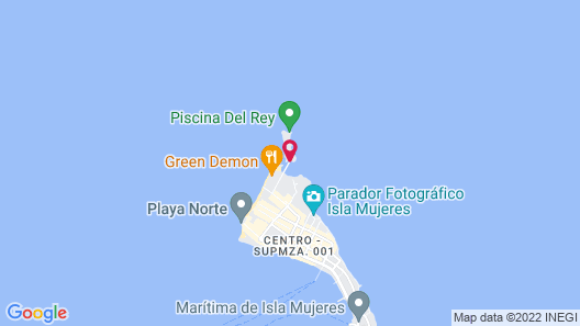 Mia Reef Isla Mujeres - All Inclusive Map