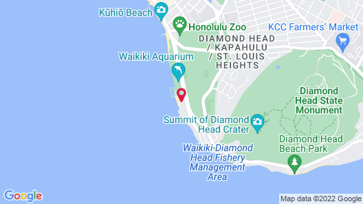 Kaimana Beach Hotel Map