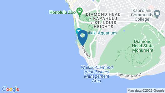 New Otani Kaimana Beach Hotel Map