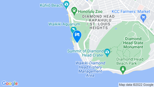 New Otani Kaimana Beach Hotel Map