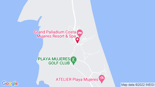Family Selection at Grand Palladium Costa Mujeres Resort & Spa- All Inclusive Map