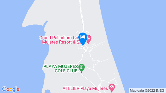 Grand Palladium Costa Mujeres Resort & Spa - All Inclusive Map