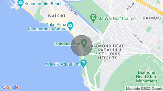 The Best View in Waikiki, Only Steps Away From the Best Beach in the World Map