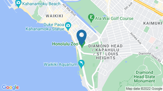 Castle Waikiki Grand Hotel Map