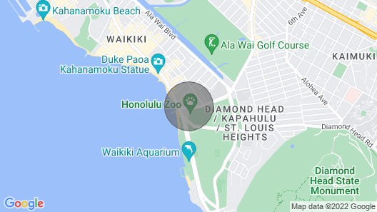 Comfortable Spacious and Modern - PLUS Just 1min to Beach with Diamond Head View Map
