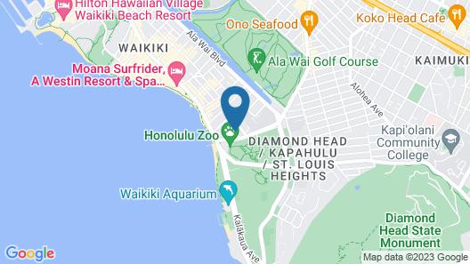 The Beach Waikiki Boutique Hostel Map