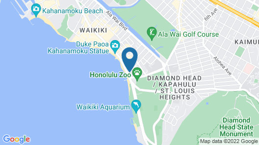 Aston Waikiki Beach Hotel Map