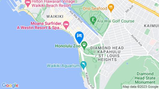 Aston Waikiki Beach Hotel Map
