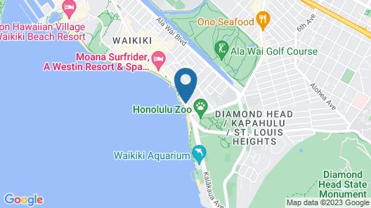 Waikiki Beach Marriott Resort & Spa Map