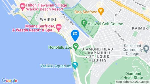 Hyatt Place Waikiki Beach Map