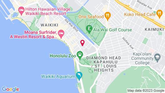 Aston Waikiki Sunset Map