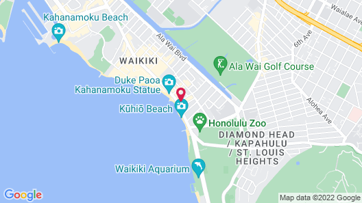 'Alohilani Resort Waikiki Beach Map