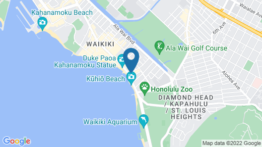 'Alohilani Resort Waikiki Beach Map