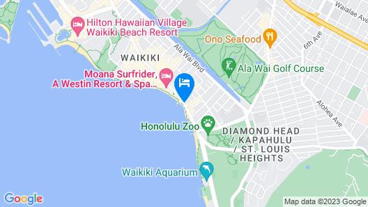 Aston Waikiki Circle Hotel Map