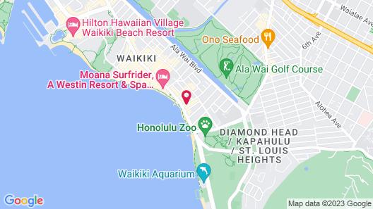 Aston Waikiki Beach Tower Map