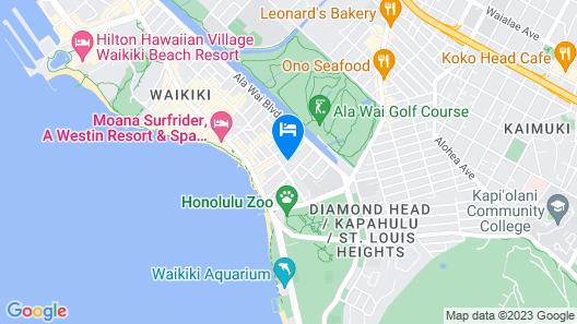 Aston at the Waikiki Banyan Map