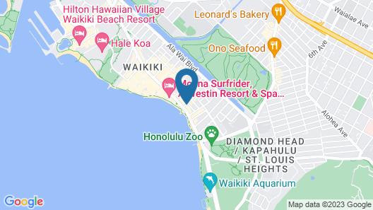 Hyatt Regency Waikiki Beach Resort & Spa Map