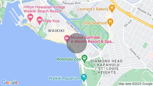 High Floor - 1 min to beach , Ocean view, kitchen Map