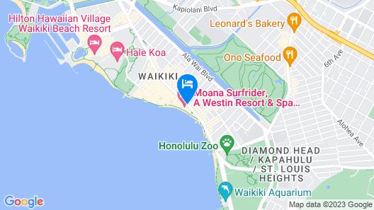 Moana Surfrider, A Westin Resort & Spa, Waikiki Beach Map