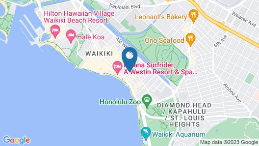 Stay Condominiums Waikiki Map
