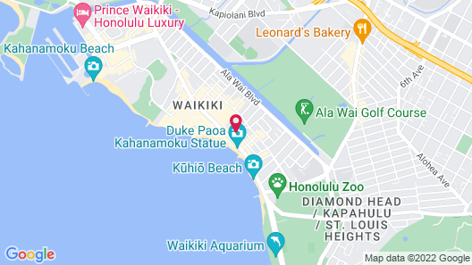 Sheraton Princess Kaiulani Map