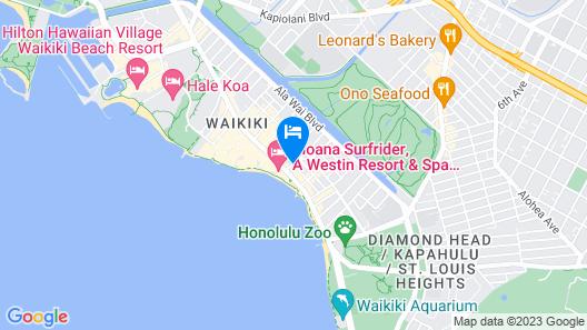 Sheraton Princess Kaiulani Map
