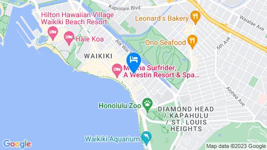 Bamboo Waikiki Hotel Map