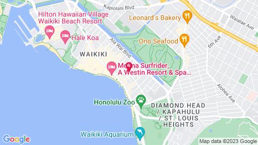 Vive Hotel Waikiki Map