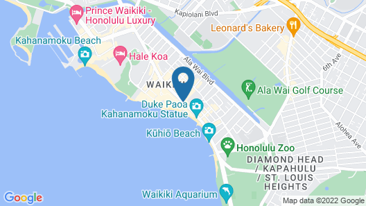 Outrigger Waikiki Beach Resort Map