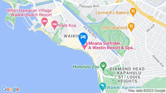 Outrigger Waikiki Beach Resort Map