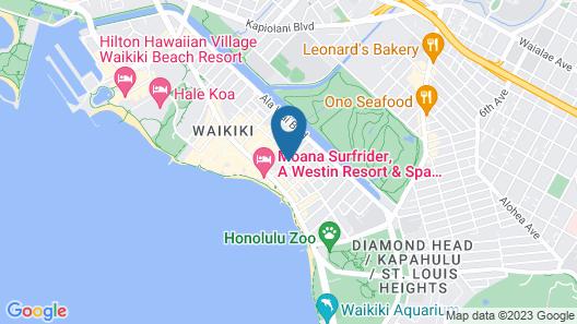 OHANA Waikiki East by Outrigger Map