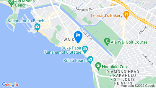 Waikiki Beachcomber by Outrigger Map