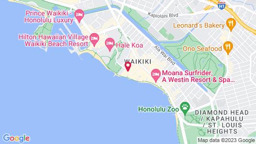 Halekulani Map