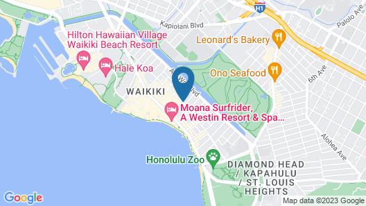 Hilton Garden Inn Waikiki Beach Map