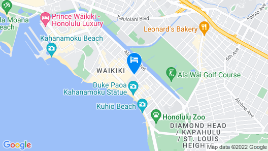 Hilton Garden Inn Waikiki Beach Map