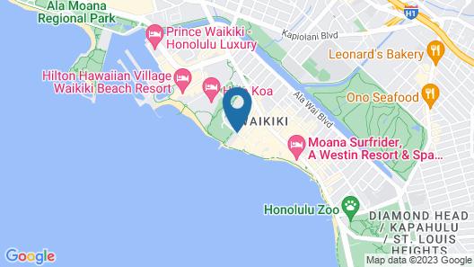 Outrigger Reef Waikiki Beach Resort Map